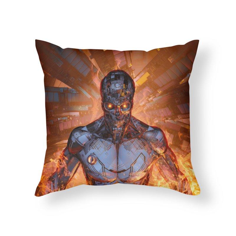 The Fury Home Throw Pillow by Grandio Design Artist Shop