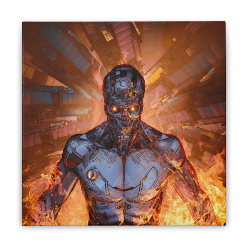 The Fury Home Stretched Canvas by Grandio Design Artist Shop