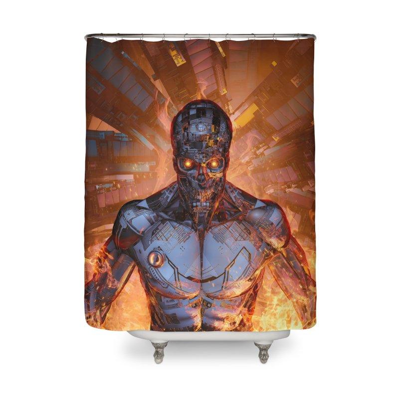 The Fury Home Shower Curtain by Grandio Design Artist Shop
