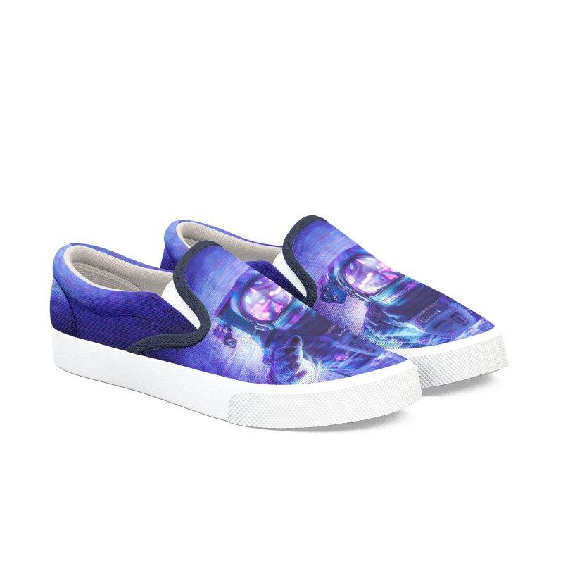 Transmission Error Men's Slip-On Shoes by Grandio Design Artist Shop