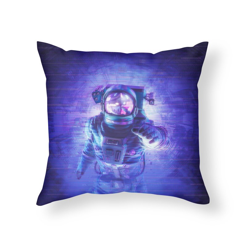 Transmission Error Home Throw Pillow by Grandio Design Artist Shop