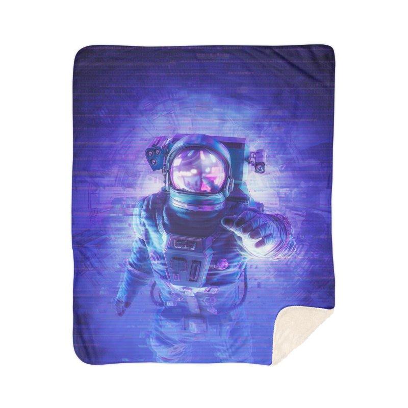 Transmission Error Home Sherpa Blanket Blanket by Grandio Design Artist Shop