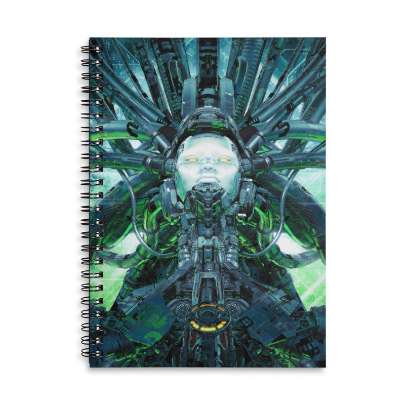 Artificial Angel Accessories Lined Spiral Notebook by Grandio Design Artist Shop