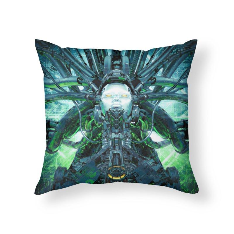 Artificial Angel Home Throw Pillow by Grandio Design Artist Shop