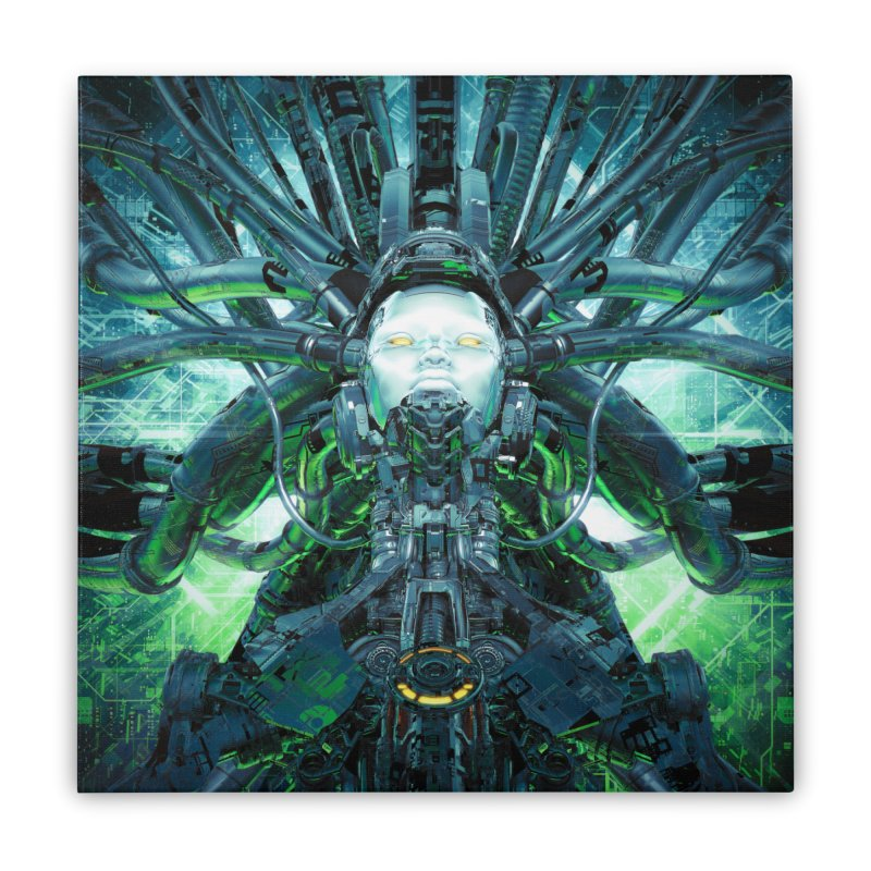 Artificial Angel Home Stretched Canvas by Grandio Design Artist Shop