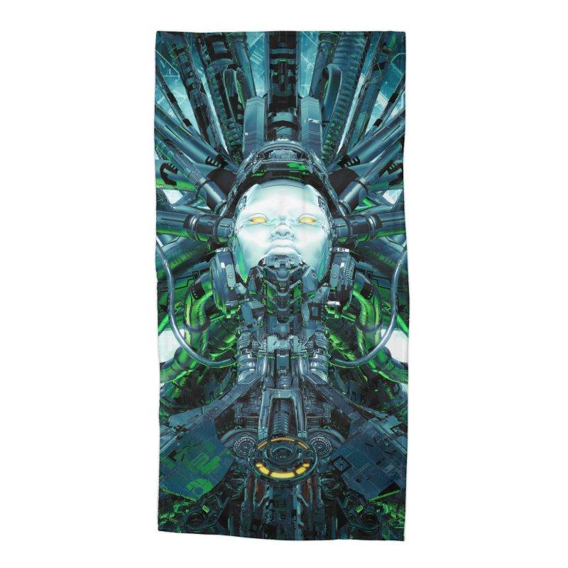 Artificial Angel Accessories Beach Towel by Grandio Design Artist Shop