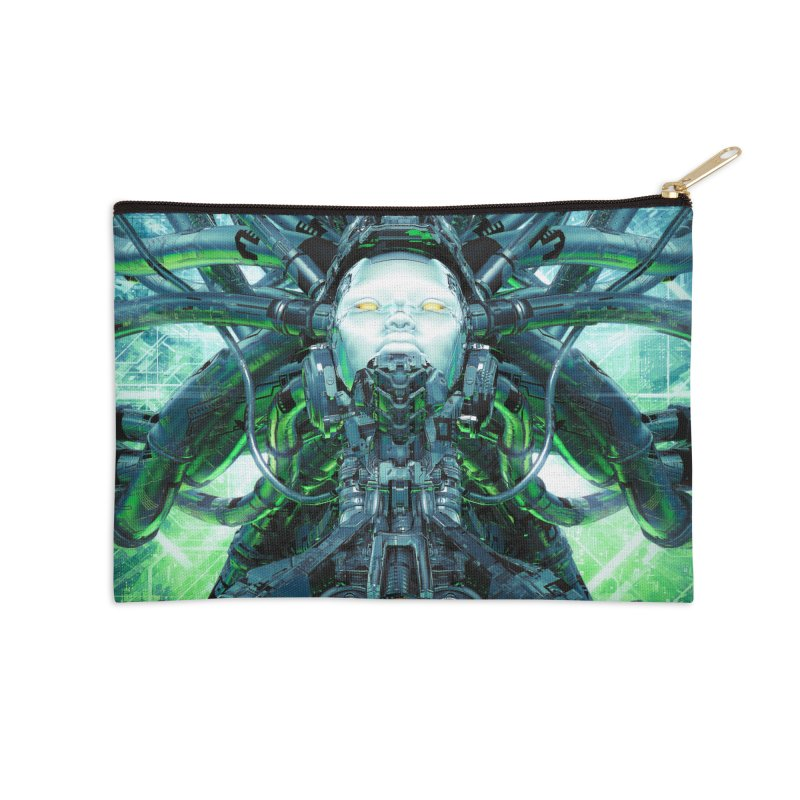Artificial Angel Accessories Zip Pouch by Grandio Design Artist Shop