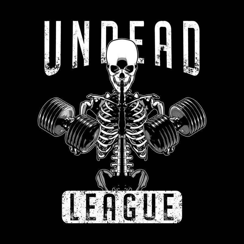 Undead Fitness League Workout Halloween Zombie Skeleton Accessories Greeting Card by Grandio Design Artist Shop