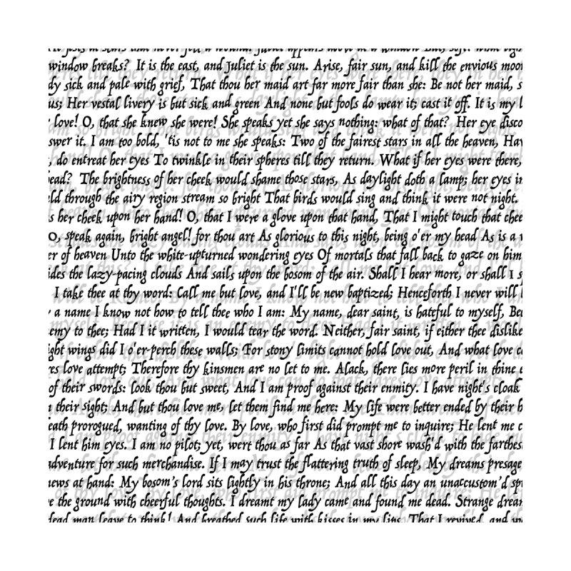 Love Letter Shakespeare Romeo & Juliet Pattern Accessories Greeting Card by Grandio Design Artist Shop