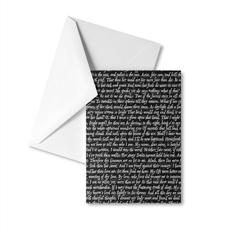 Love Letter Shakespeare Romeo & Juliet Pattern II Accessories Greeting Card by Grandio Design Artist Shop