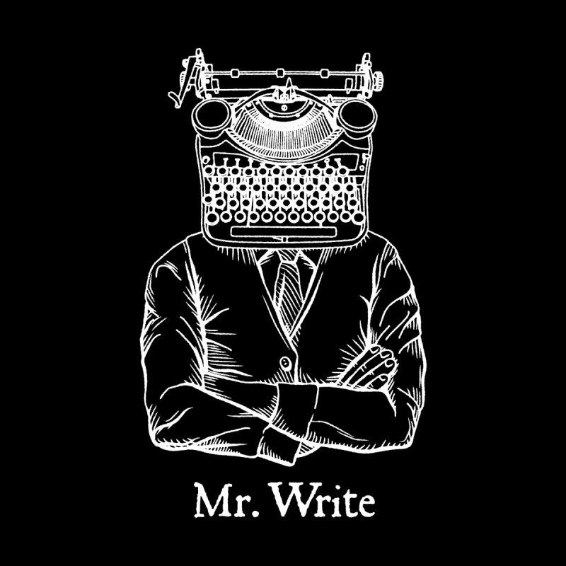 Mr. Write Author Writer Vintage Typewriter Funny Word Pun Accessories Greeting Card by Grandio Design Artist Shop