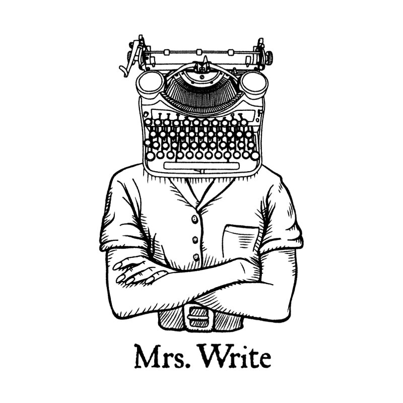 Mrs. Write Author Writer Vintage Typewriter Funny Word Pun Accessories Greeting Card by Grandio Design Artist Shop