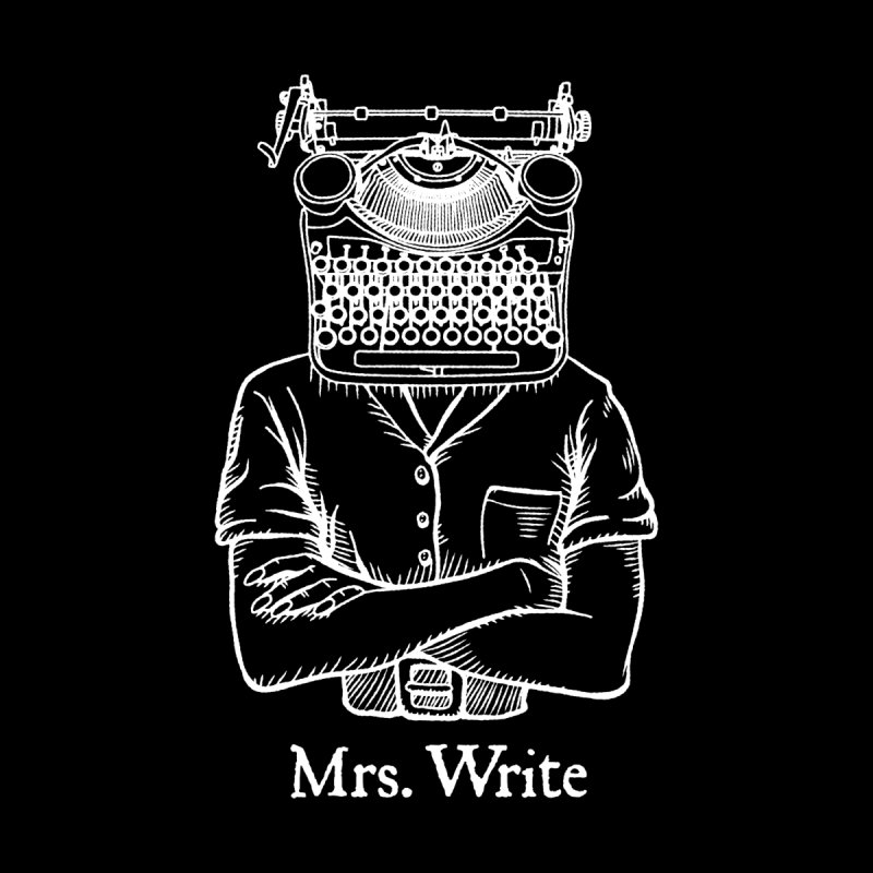 Mrs. Write Author Writer Vintage Typewriter Funny Word Pun Accessories Greeting Card by Grandio Design Artist Shop