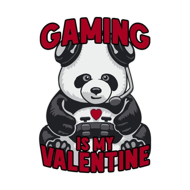 Gaming Is My Valentine Panda Funny Cute Bear Video Gamer Men's Sweatshirt by Grandio Design Artist Shop