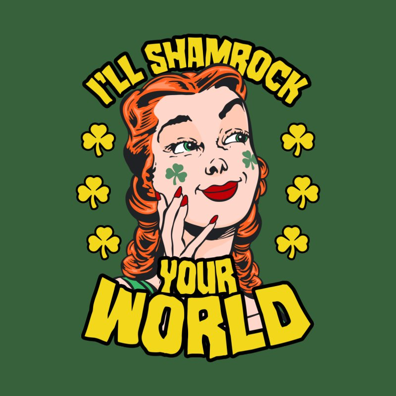 I'll Shamrock Your World St. Patrick's Day Pop Art Girl Accessories Skateboard by Grandio Design Artist Shop