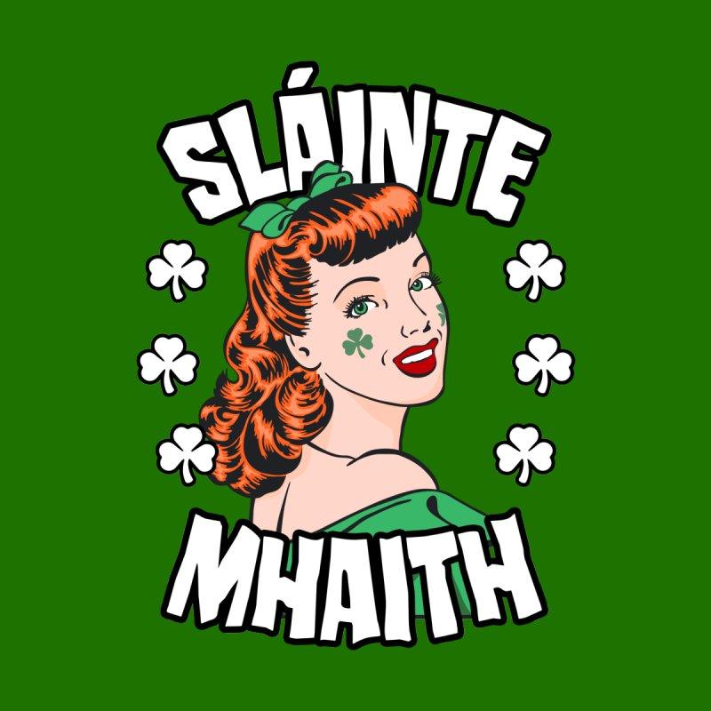 Slainte Mhaith St. Patrick's Day Irish Redhead Pop Art Girl Accessories Skateboard by Grandio Design Artist Shop