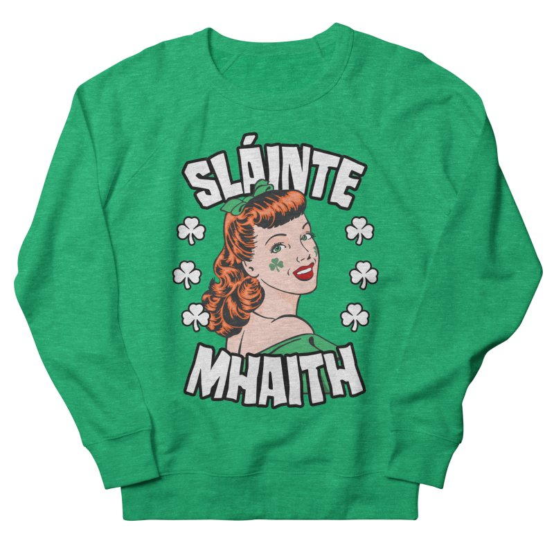 Slainte Mhaith St. Patrick's Day Irish Redhead Pop Art Girl Men's Sweatshirt by Grandio Design Artist Shop