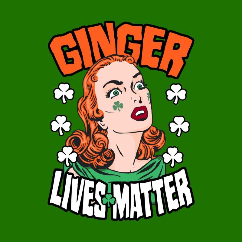 Ginger Lives Matter St. Patrick's Day Redhead Pop Art Girl Accessories Skateboard by Grandio Design Artist Shop