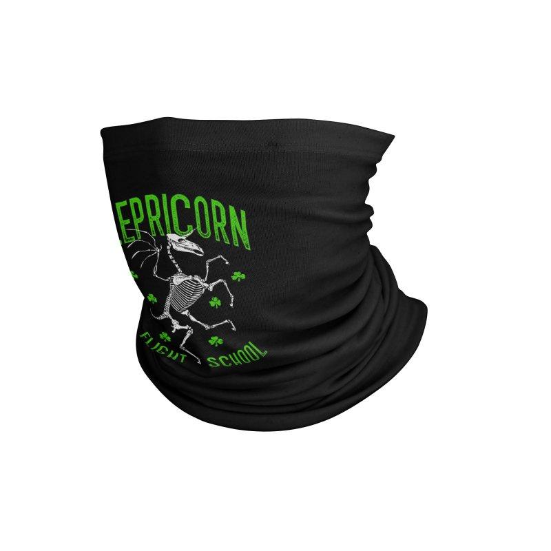 Lepricorn Flight School St. Patrick's Day Unicorn Skeleton Accessories Neck Gaiter by Grandio Design Artist Shop