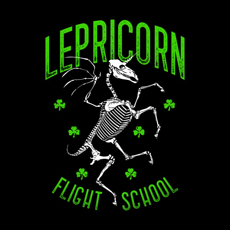 Lepricorn Flight School St. Patrick's Day Unicorn Skeleton Women's Scoop Neck by Grandio Design Artist Shop