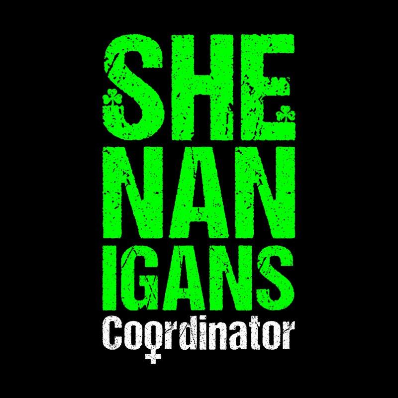 Shenanigans Coordinator Feminist St. Patrick's Day Shamrock Accessories Neck Gaiter by Grandio Design Artist Shop