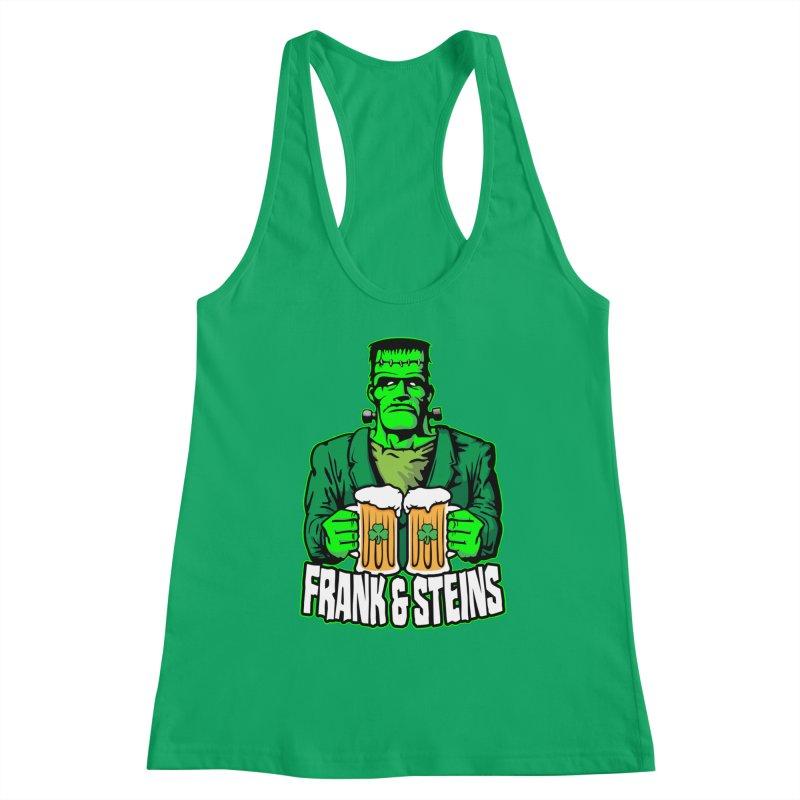 Frank & Steins St. Patrick's Day Frankenstein Monster Beer Women's Tank by Grandio Design Artist Shop