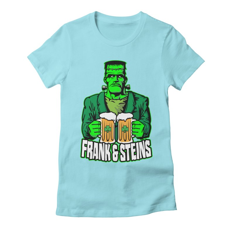 Frank & Steins St. Patrick's Day Frankenstein Monster Beer Women's T-Shirt by Grandio Design Artist Shop