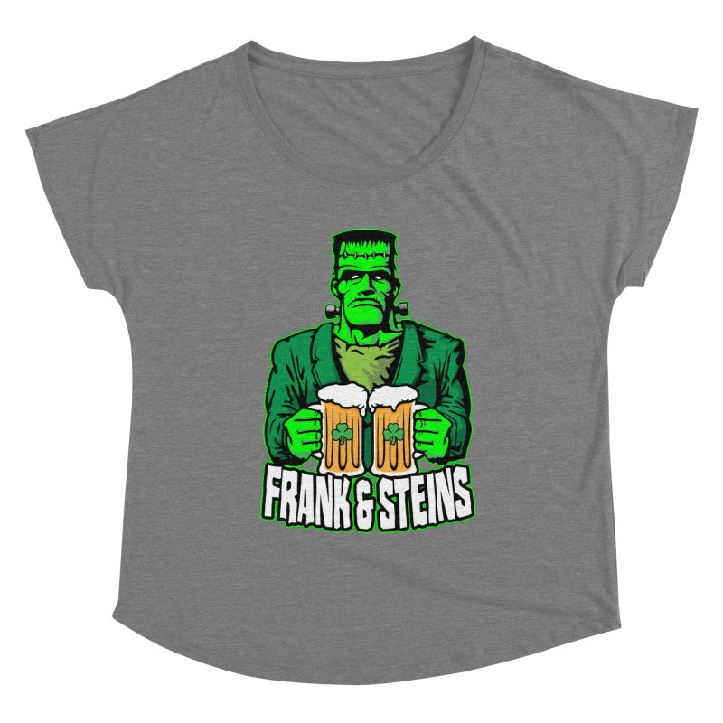 Frank & Steins St. Patrick's Day Frankenstein Monster Beer Women's Scoop Neck by Grandio Design Artist Shop