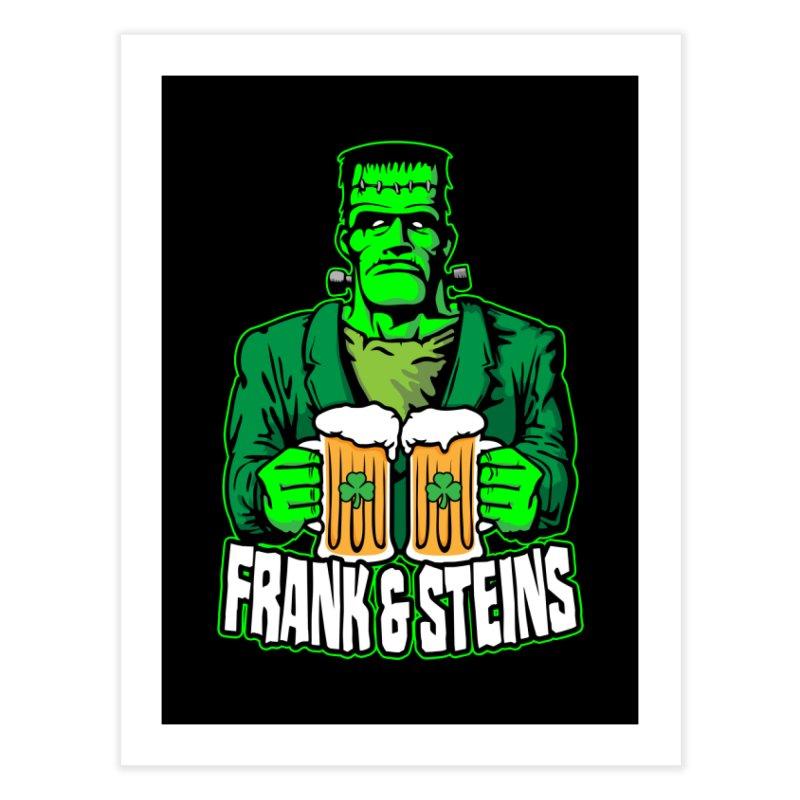 Frank & Steins St. Patrick's Day Frankenstein Monster Beer Home Fine Art Print by Grandio Design Artist Shop