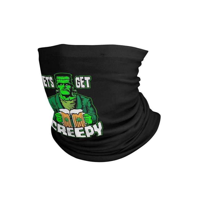 Let's Get Creepy St. Patrick's Day Frankenstein Monster Beer Accessories Neck Gaiter by Grandio Design Artist Shop