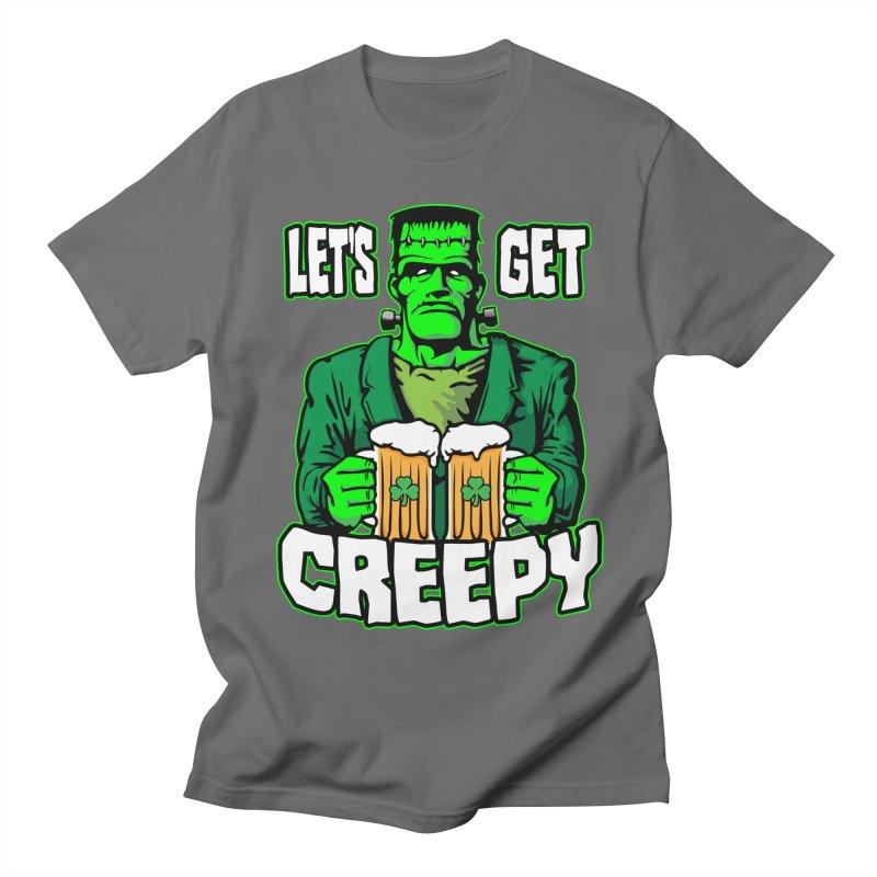 Let's Get Creepy St. Patrick's Day Frankenstein Monster Beer Men's T-Shirt by Grandio Design Artist Shop