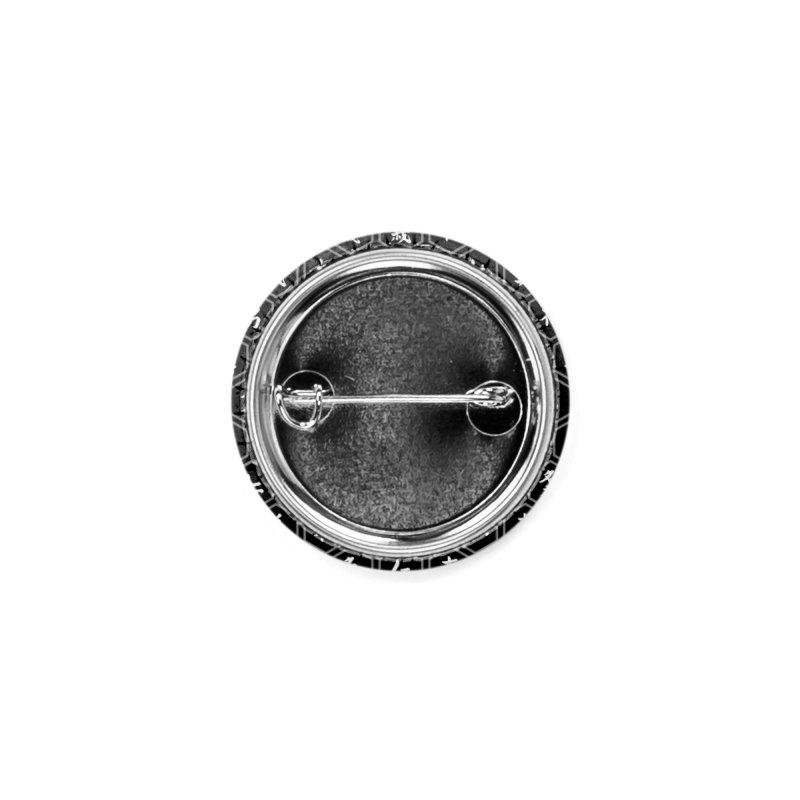 Bushido Seven Virtues Japanese Samurai Kanji Pattern Hex BLACK Accessories Button by Grandio Design Artist Shop