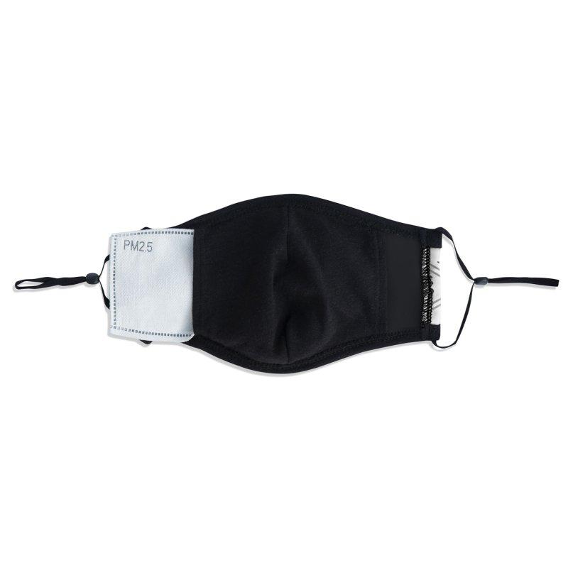 Bushido Seven Virtues Japanese Samurai Kanji Pattern Hex WHITE Accessories Face Mask by Grandio Design Artist Shop