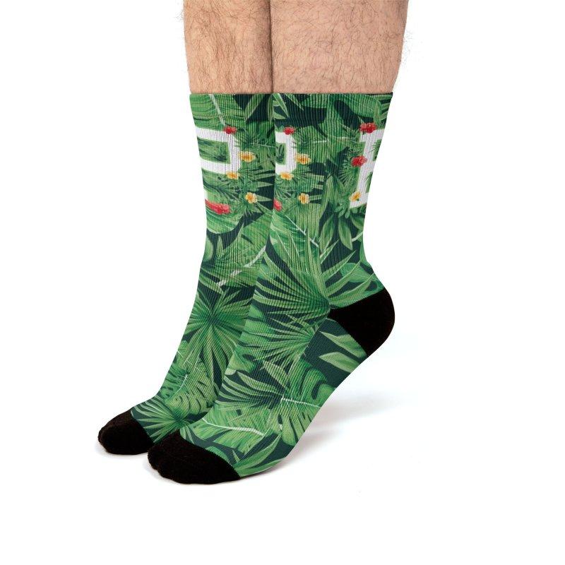 Capital Letter P Alphabet Monogram Initial Flower Gardener Men's Socks by Grandio Design Artist Shop