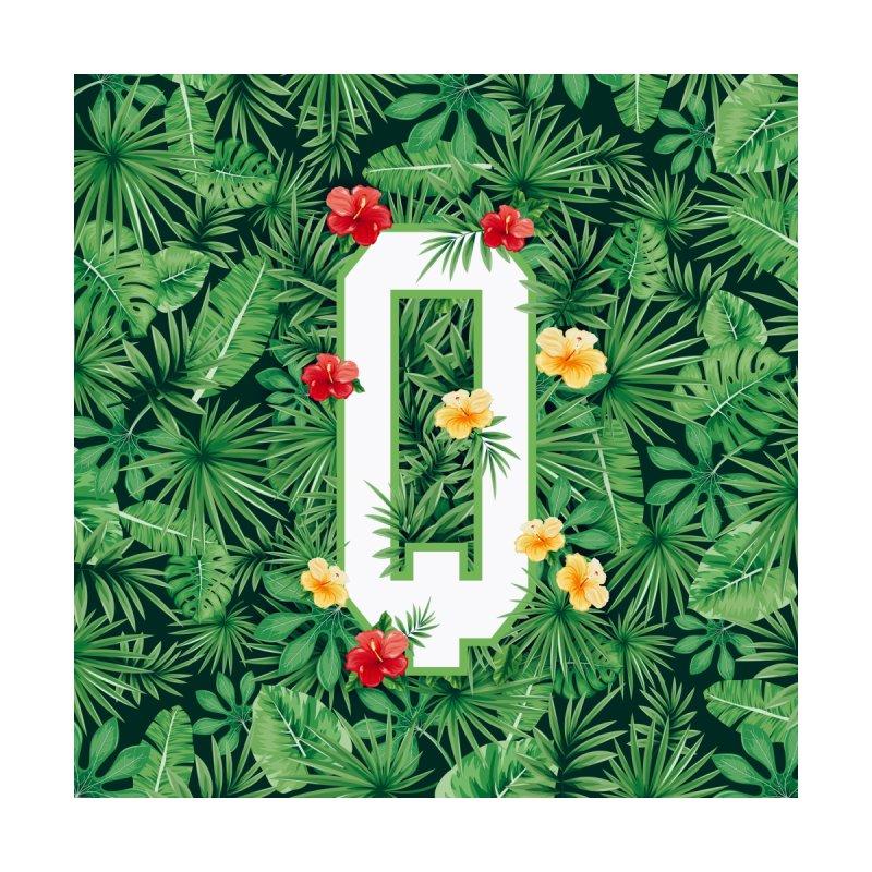 Capital Letter Q Alphabet Monogram Initial Flower Gardener Women's T-Shirt by Grandio Design Artist Shop