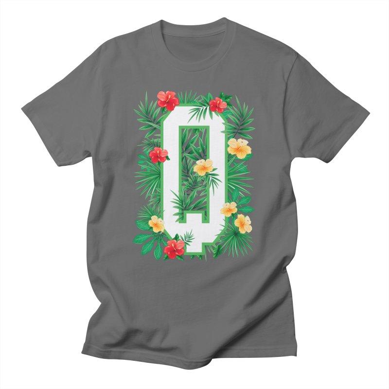 Capital Letter Q Alphabet Monogram Initial Flower Gardener Men's T-Shirt by Grandio Design Artist Shop