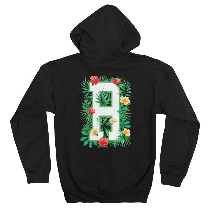 Capital Letter R Alphabet Monogram Initial Flower Gardener Men's Zip-Up Hoody by Grandio Design Artist Shop
