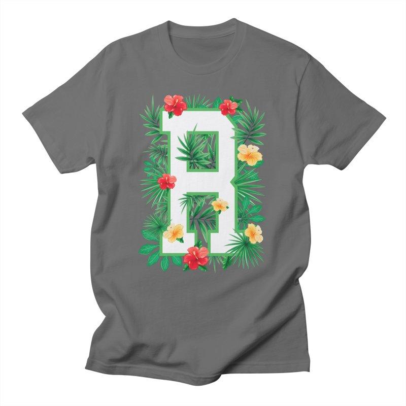 Capital Letter R Alphabet Monogram Initial Flower Gardener Men's T-Shirt by Grandio Design Artist Shop