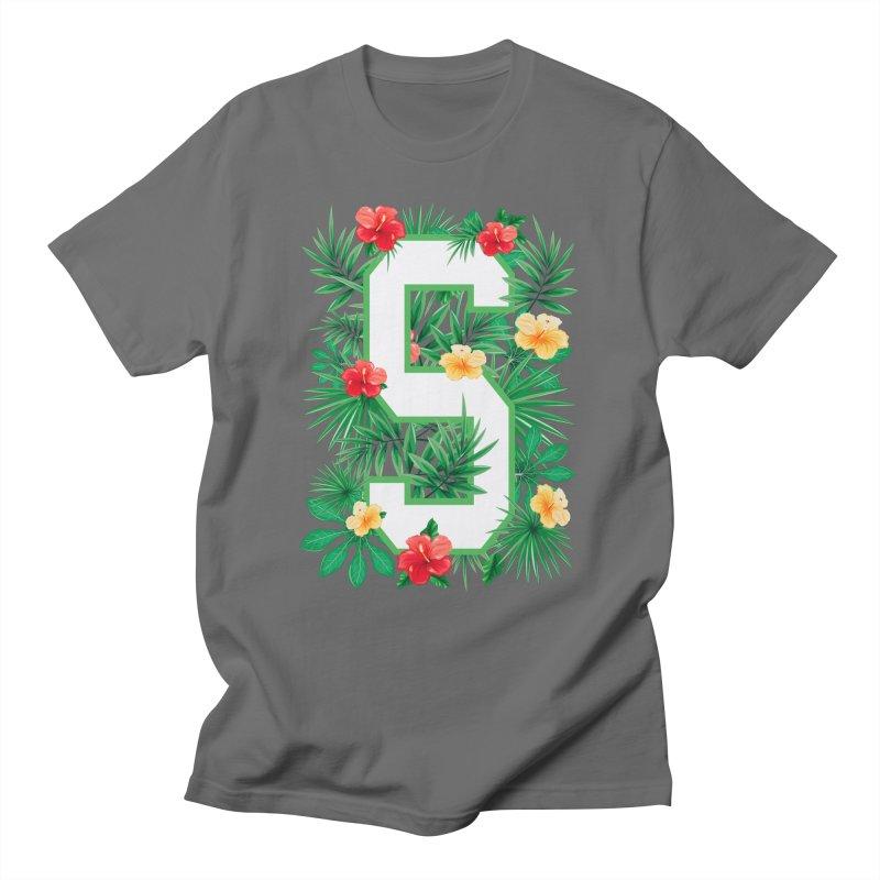 Capital Letter S Alphabet Monogram Initial Flower Gardener Men's T-Shirt by Grandio Design Artist Shop