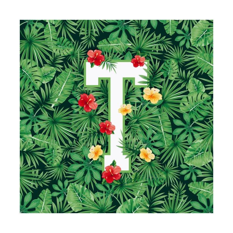 Capital Letter T Alphabet Monogram Initial Flower Gardener Men's Zip-Up Hoody by Grandio Design Artist Shop