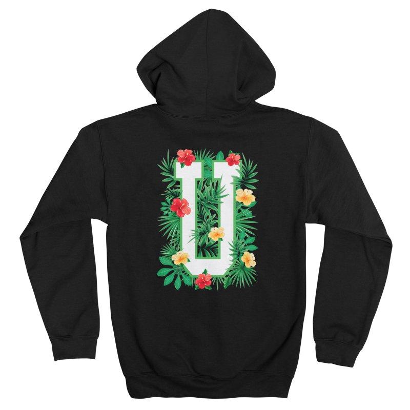 Capital Letter U Alphabet Monogram Initial Flower Gardener Men's Zip-Up Hoody by Grandio Design Artist Shop