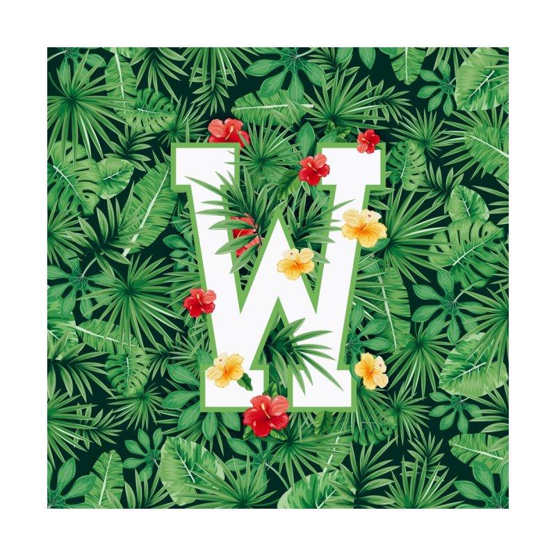 Capital Letter W Alphabet Monogram Initial Flower Gardener Men's T-Shirt by Grandio Design Artist Shop