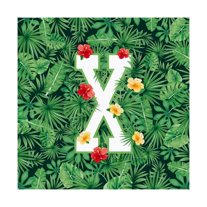 Capital Letter X Alphabet Monogram Initial Flower Gardener Men's Zip-Up Hoody by Grandio Design Artist Shop
