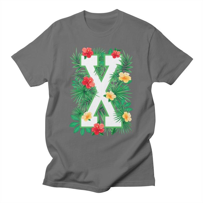 Capital Letter X Alphabet Monogram Initial Flower Gardener Men's T-Shirt by Grandio Design Artist Shop