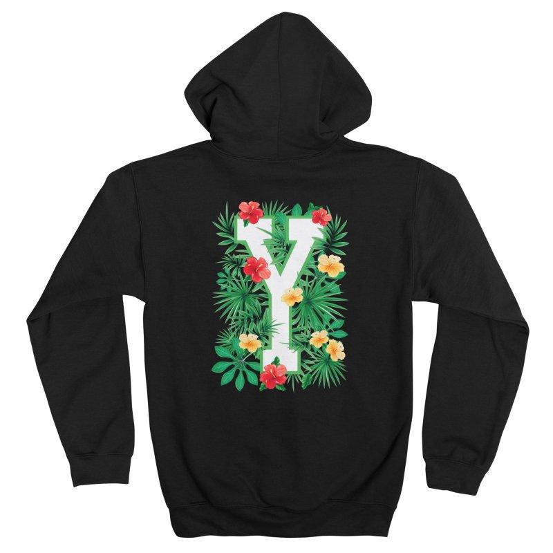 Capital Letter Y Alphabet Monogram Initial Flower Gardener Men's Zip-Up Hoody by Grandio Design Artist Shop