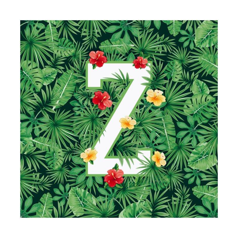 Capital Letter Z Alphabet Monogram Initial Flower Gardener Men's T-Shirt by Grandio Design Artist Shop