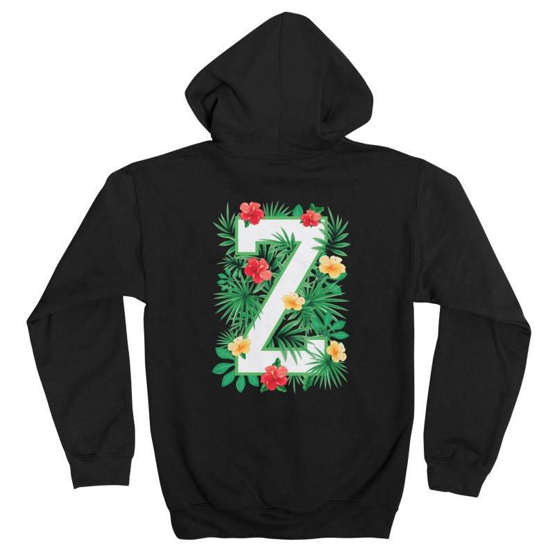 Capital Letter Z Alphabet Monogram Initial Flower Gardener Men's Zip-Up Hoody by Grandio Design Artist Shop