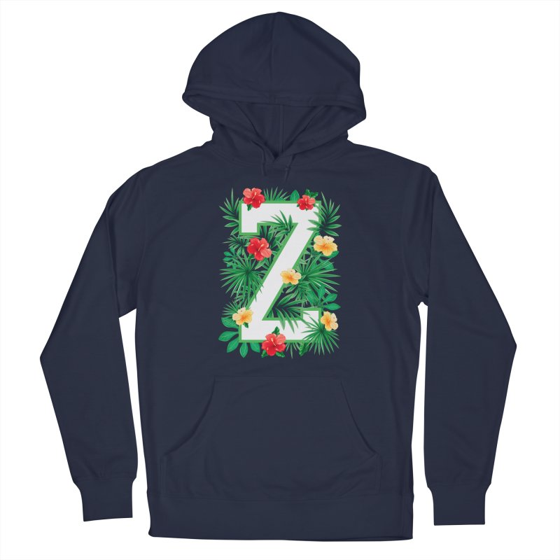 Capital Letter Z Alphabet Monogram Initial Flower Gardener Men's Pullover Hoody by Grandio Design Artist Shop