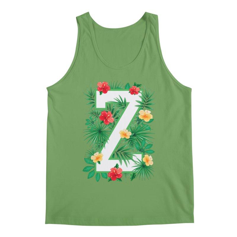 Capital Letter Z Alphabet Monogram Initial Flower Gardener Men's Tank by Grandio Design Artist Shop