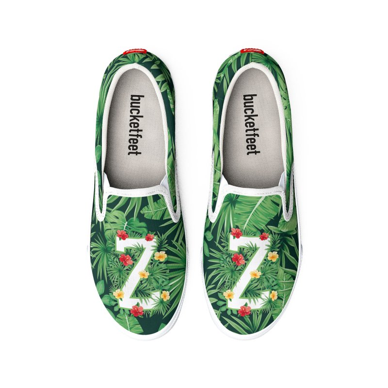 Capital Letter Z Alphabet Monogram Initial Flower Gardener Men's Shoes by Grandio Design Artist Shop